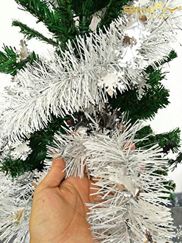 Hot Sale! Foil-Tinsel-Garland-Silver-6.5Ft-Long For Christmas Tree ornament-TG001 (Sale For Tinsel)
