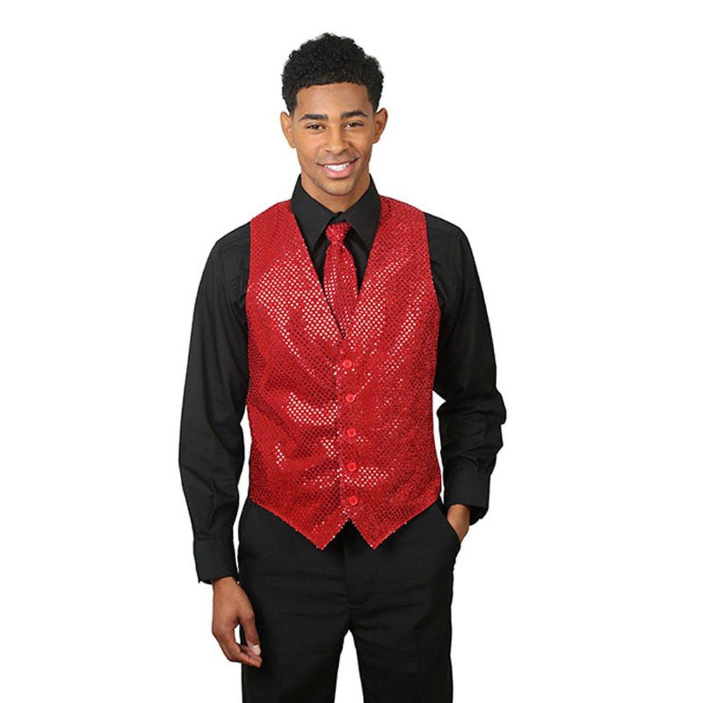 SixStarUniforms Men's Sequins Vest