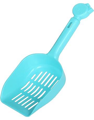 Digiflex Cuchara Azul de Plástico Fácil de Limpiar para Arenero de Gatos Pala Compacta para Residuos