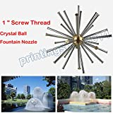 1 '' Crystal Ball Dandelion Fountain Nozzle Spray Sight View Home Garden pool
