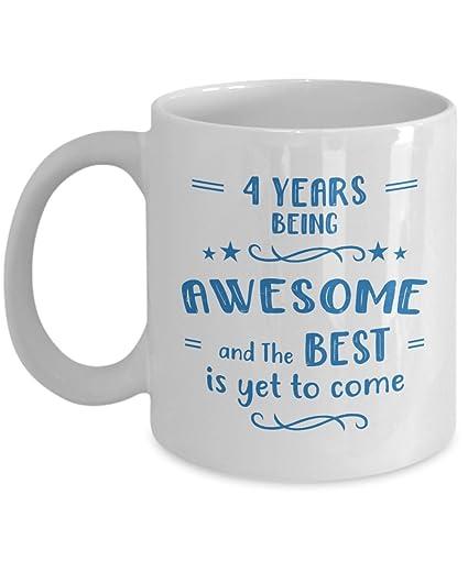 Amazon Happy 4th Birthday Mug