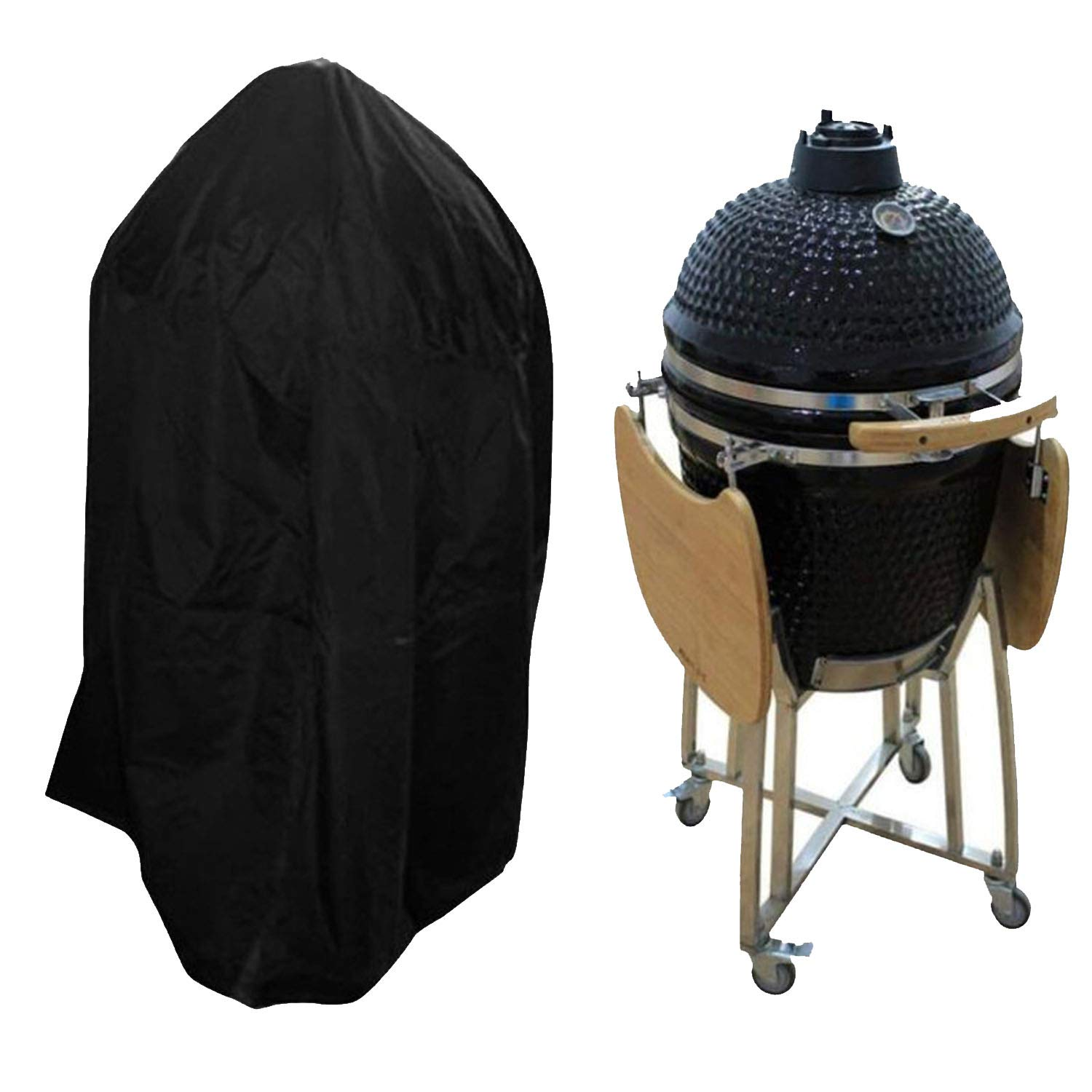 Amazon.com: Black Waterproof BBQ Cover Heavy Duty BBQ Accessories ...