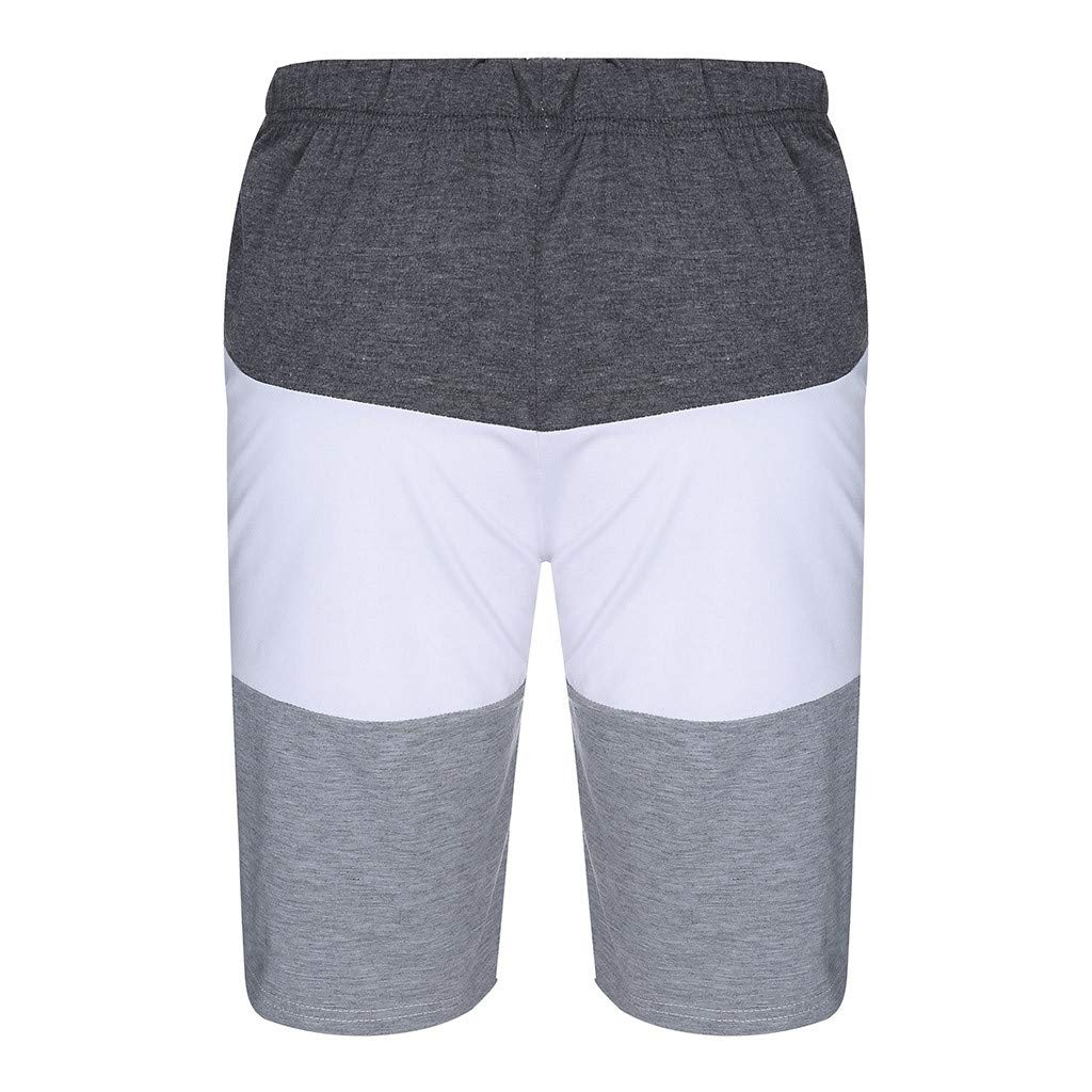 Men Sport Shorts,2019 New Summer Casual Multi-Pocket Loose Sweatpants Splice Drawstring Gym Pant