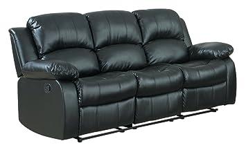 Case Andrea MilanoTM Bonded Leather Double Recliner Sofa
