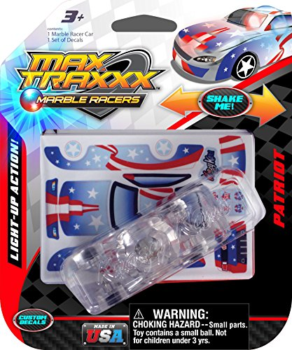 Max Traxxx Patriot Light Up Marble Tracer Racer Gravity Drive Car