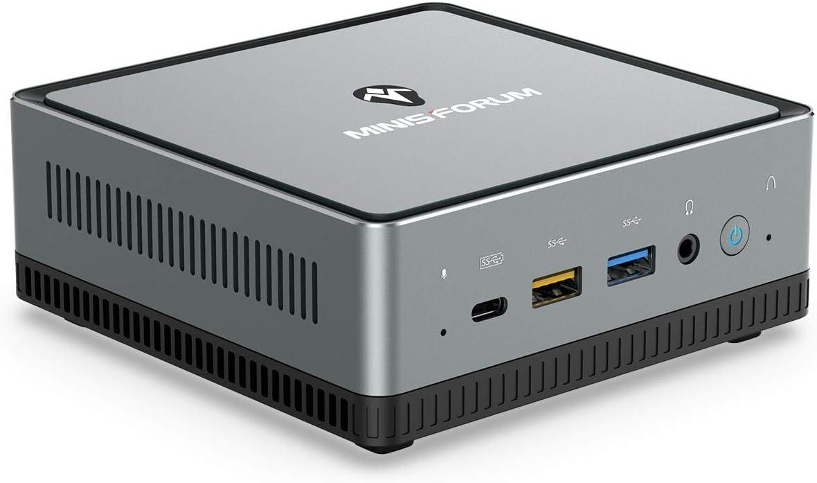 UM700 Mini PC AMD Ryzen 7 3750H 4C/8T Windows 10 Pro Desktop Computer, DDR4 16G RAM+512G SSD, HDMI/DP/USB-C 4K@60Hz Output, 2X RJ45 Port, 4x USB3.0 Port, Dual Band WiFi, BT5.1, Radeon Vega 10 Graphics