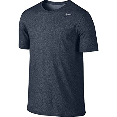 ae158759c Nike Men's Dry Tee Dri-fit Cotton 2.0 Short Sleeve, Obsidian Heather/Matte