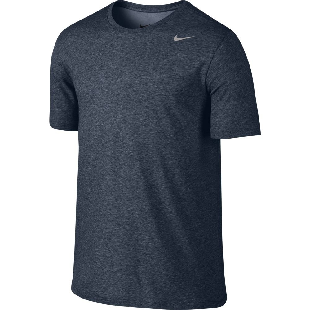 NIKE Men's Dri-FIT Cotton 2.0 Tee, Obsidian Heather/Matte Silver, Small by Nike (Image #1)