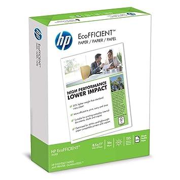 HP Papel para impresora, EcoFFICIENT16, 8.5 x 11 papel, tamaño ...