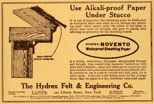 1915-ad-alkali-proof-paper-stucco-hydrex-felt-engineering-sheathing-novento-ny-original-print-ad