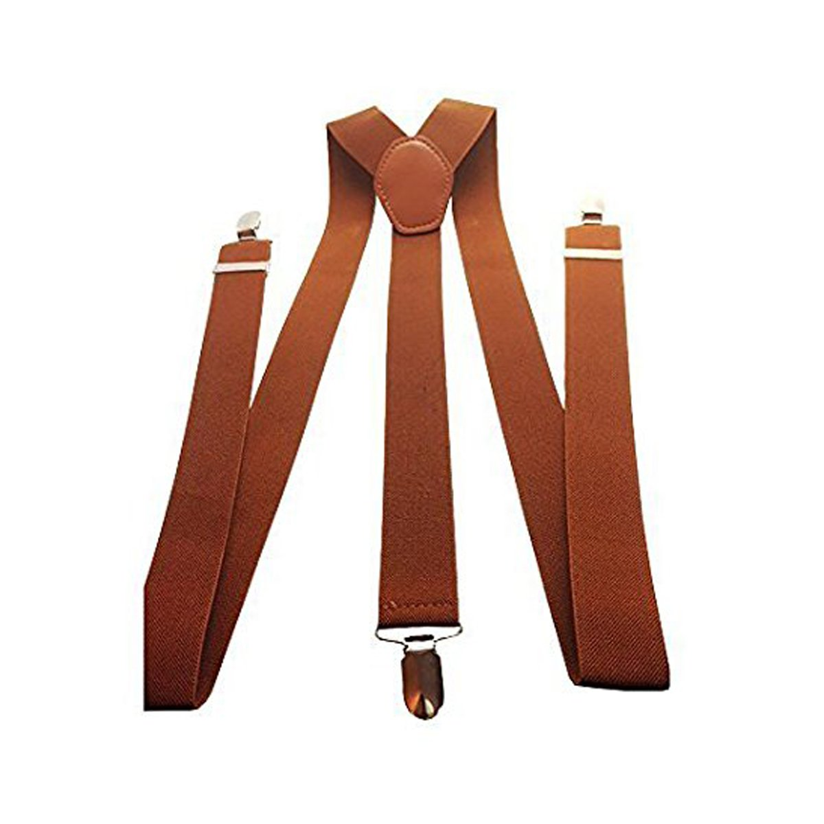 Mens 35mm Wide Adjustable Braces Suspenders Elasticated Clip On Trousers Jeans
