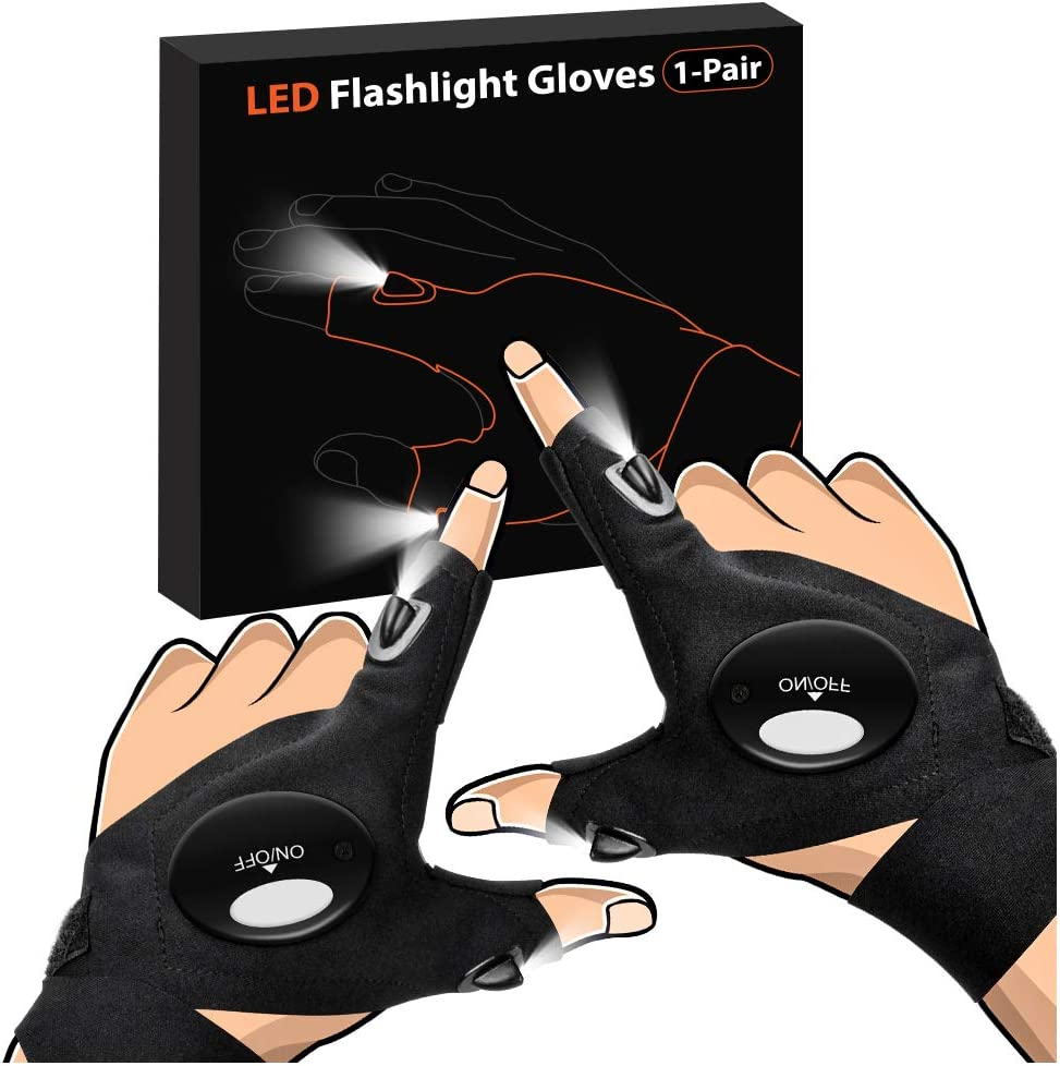 Gifts for Men Father Day, LED Flashlight Gloves Dad Men Gifts, Light Gloves Gifts for Women, Boyfriend, Husband, Hand Light Tools for Fishing, Repairing, Guy Birthday Gift, Father Gifts on Fathers Day: Home Improvement