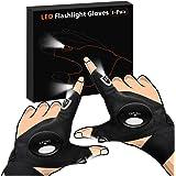 LED Flashlight Gloves, Stocking Stuffers for Men On Christmas, Men Gifts for Dad Boyfriend, LED Light Gloves for Men…