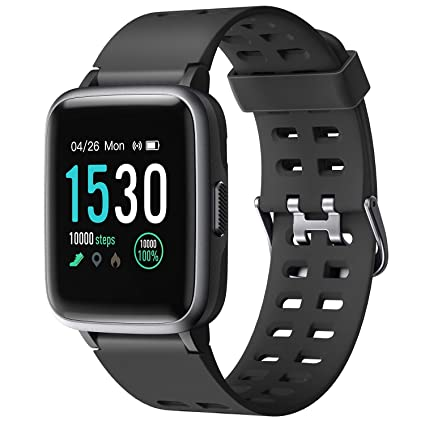 Amazon.com: Letsfit - Reloj inteligente con monitor de ...
