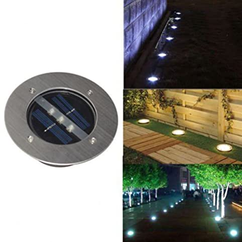 Windspeed Waterproof Solar Powered 3 LED Lighting Buried Ground Underground  Lights For Outdoor Fence Lamp Garden