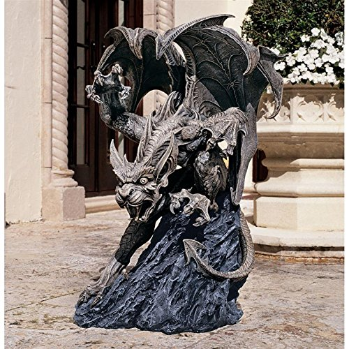 Design Toscano Scatheus, Guardian of the Shadows Gargoyle Sculpture