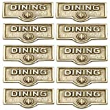 Switchplate Polished/Lacquered Brass DINING Switch Tag Brass 1 11/16 I