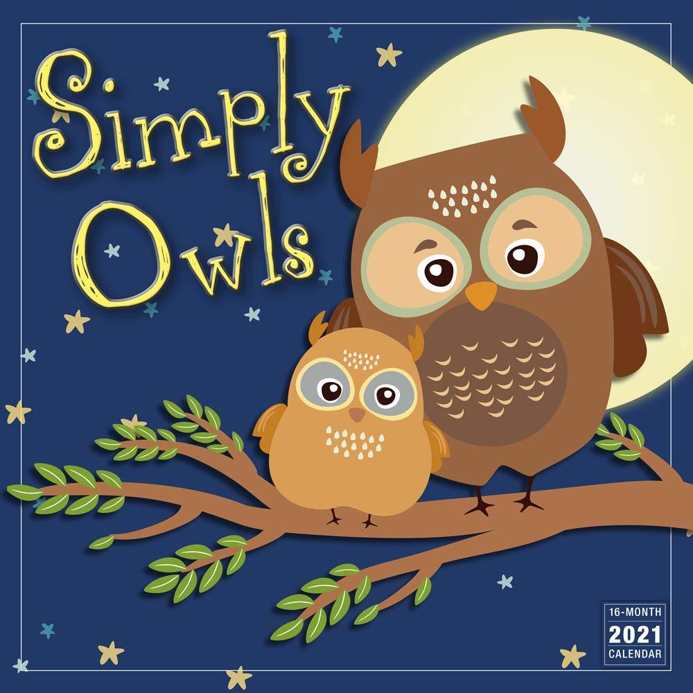 Owl Calendar 2021 2021 Simply Owls 16 Month Wall Calendar: Sellers Publishing