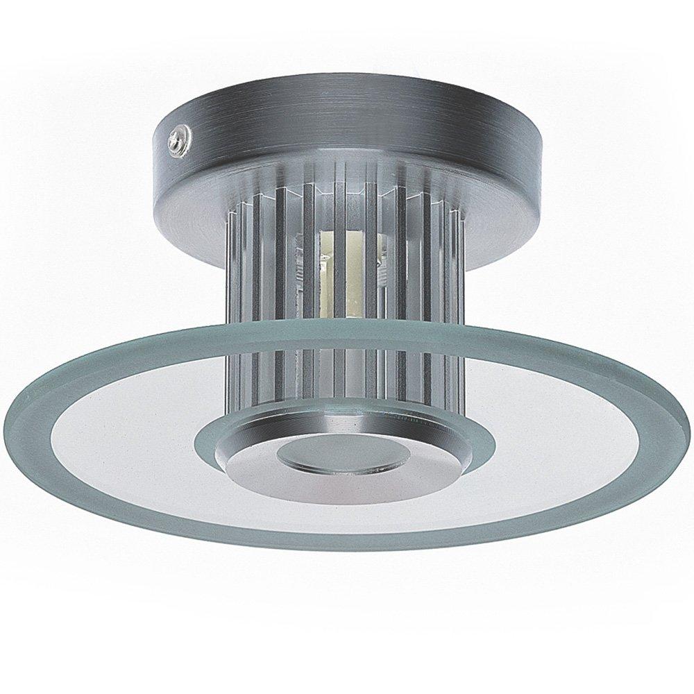Krolmann Deckenleuchte A++, LED Leuchte, Aluminium, silber, 17 x 17 ...