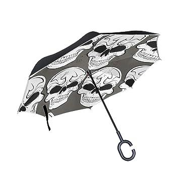 ISAOA Paraguas Grande Plegable de Doble Capa, Resistente al Viento ...