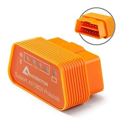 Aermotor ELM327 Bluetooth 4.0 OBD2 Automotive Scanner & Reader Tool for iOS & Android & Windows: Automotive