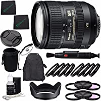 Nikon AF-S DX NIKKOR 16-85mm f/3.5-5.6G ED VR Lens + 72mm 3 Piece Filter Set (UV, CPL, FL) + 72mm +1 +2 +4 +10 Close-Up Macro Filter Set with Pouch + Lens Cap + Lens Cleaning Pen Bundle