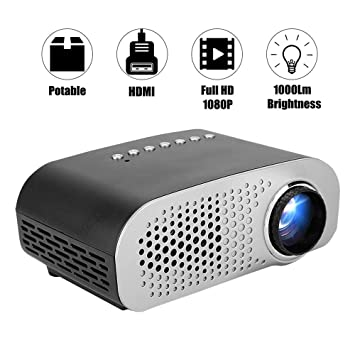 LYDIANZI Mini proyector, vídeo Full HD 1080P Inicio proyector de ...