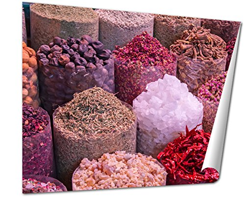 Ashley Giclee, Colorful Spices On The Traditional Arabian Souk Market In Dubai, 24x30 Print by Ashley Giclee