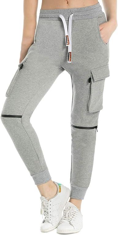 Extreme Pop Mujer Pantalones de chándal de algodón Puro Joggers de ...