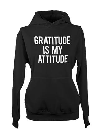 8f76d44873a Amazon.com  Gratitude Is My Attitude Women s Hoodie Sweatshirt  Clothing