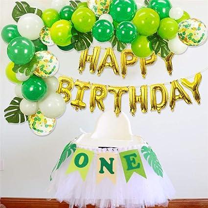Amazon Com Forest Theme Party Balloon Set Happy Birthday