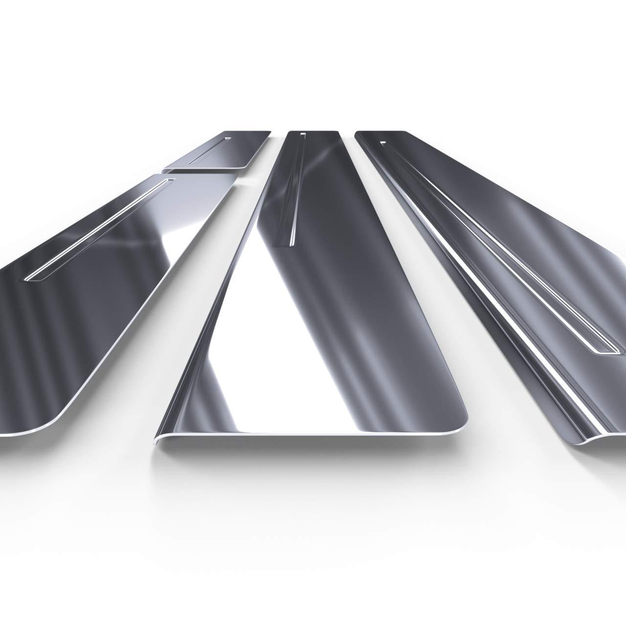 Glanz 4-teilig 5902538675420 silber Auto Einstiegsleisten Set Edelstahl