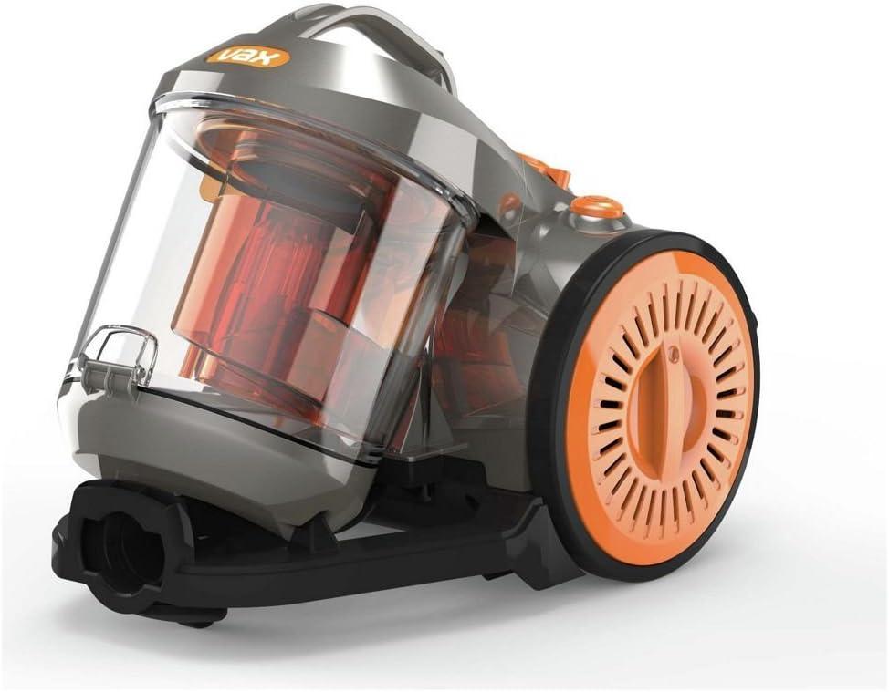 Vax Power 3 Compact Lightweight Bagless Cylinder Vacuum Cleaner, 800 W, 2.2 Liters GreyOrange