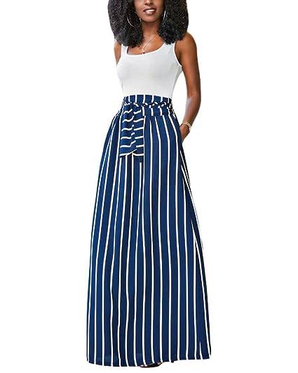 c4d7cb6df 7 faldas largas de estilo cintura alta que están de moda esta ...