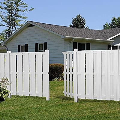 Palatine 6 ft. H x 6 ft. W Shadowbox Vinyl Fence Panel - Unassembled
