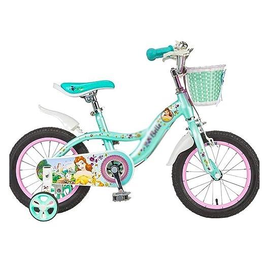 SGMYMX Bicicleta para niños Bicicleta Infantil niña niña de 16 ...