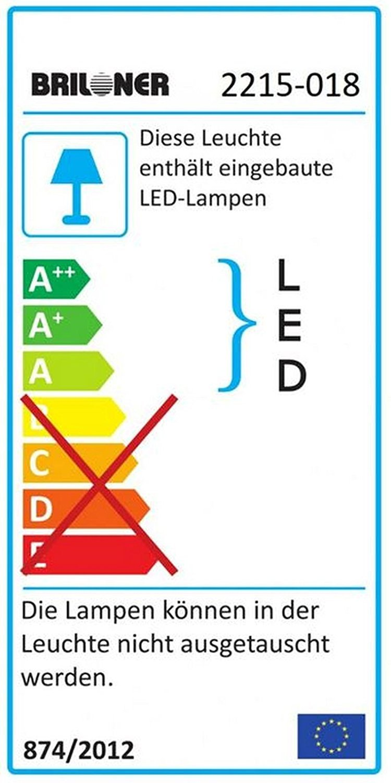 LED Wandleuchte 3x 4 Watt Badleuchte Badezimmer Lampe Briloner Surf 2215-038