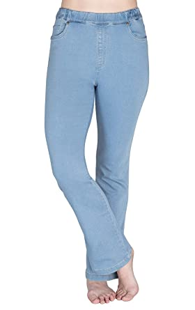 0d7f0dab4e6 PajamaJeans Women's High-Waist Bootcut Stretch Knit Jean, Clearwater Wash,  ...