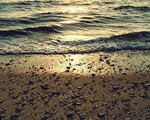 Beach Pebbles Photograph, Cape Cod Sunset, Coastal Wall Art -