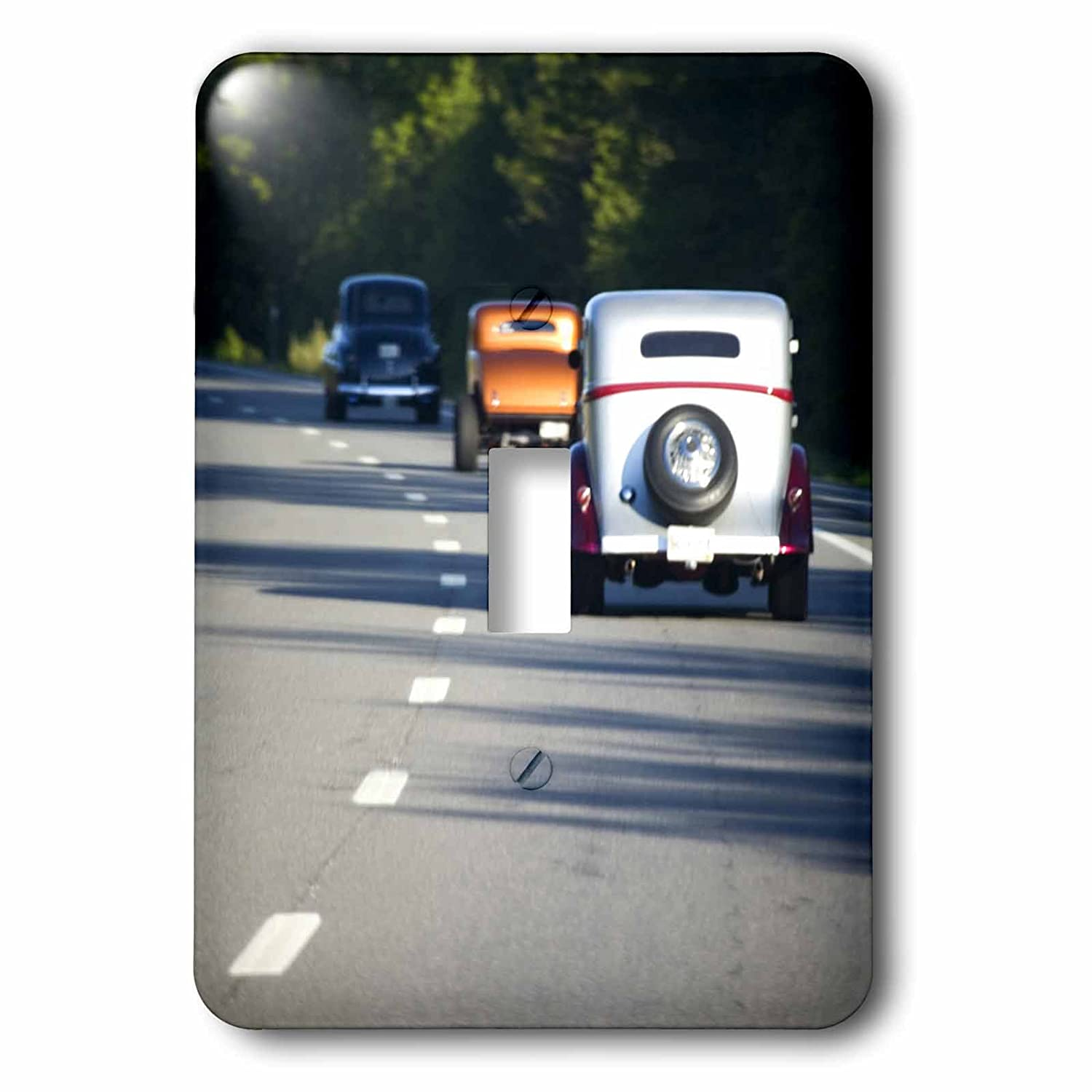 Jaynes Gallery Single Toggle Switch 3D Rose Us20 Bja0034 Classic Cars Traveling on Highway Home Improvement 3dRose lsp/_90559/_1 Maine