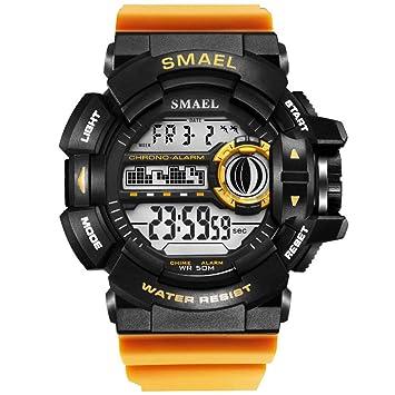 SMAEL LED Digital Wrsitwatches Relojes Militares Relojes Deportivos para Hombres Relojes Resistentes A Los Hombres S