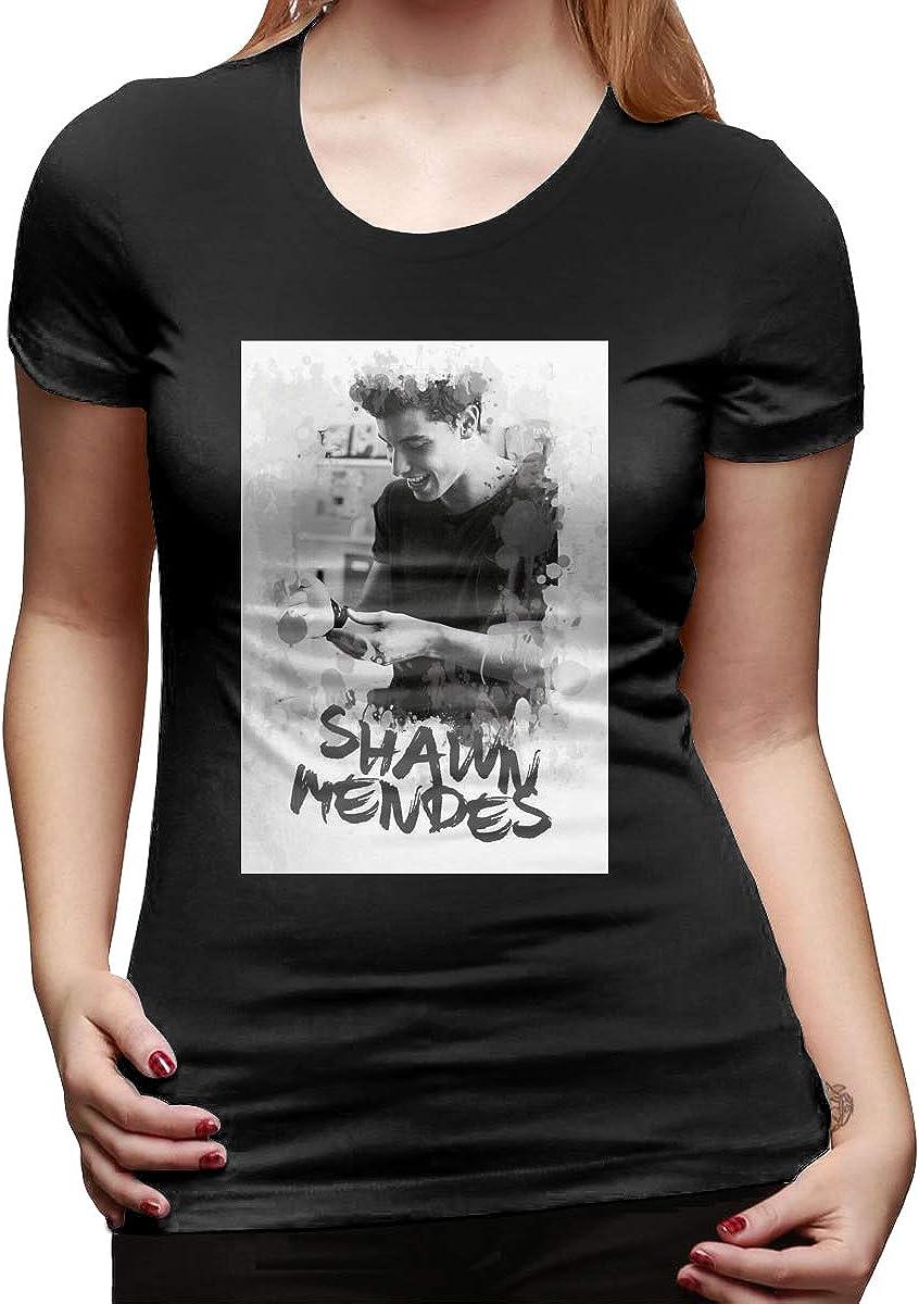 GKSTYTDMFT Shawn Mendes Women Short Sleeve T-Shirt for Girl Black