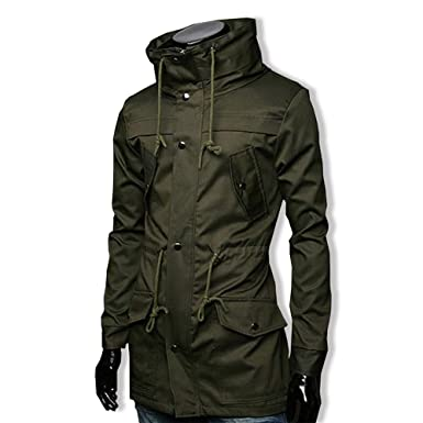 577db56ed63116 Amazon | SHEYA メンズ ミリタリー ライダース ジャケット ウィンドブレーカー エポレット おしゃれ 長袖 防風 大きいサイズ 黑 |  コート・ジャケット 通販