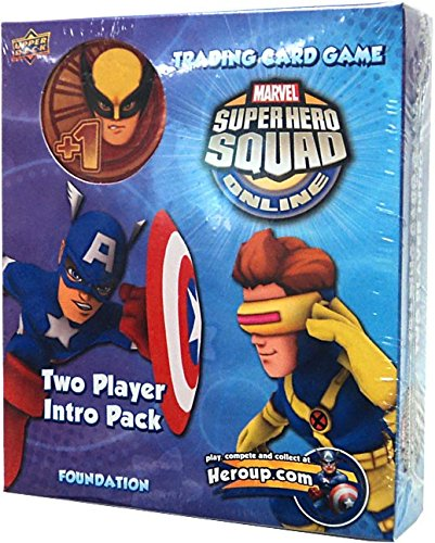 (Marvel Superhero Squad Online Trading Card Game Captain America & Cyclops 2-Player Intro Pack)