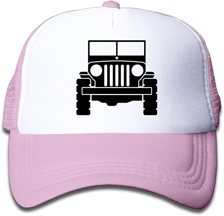 5233d57fd53 Amazon.com  Qiop Nee Pink Mesh Baseball Caps Adjustable Youth Hats Jeep  Unisex  Clothing