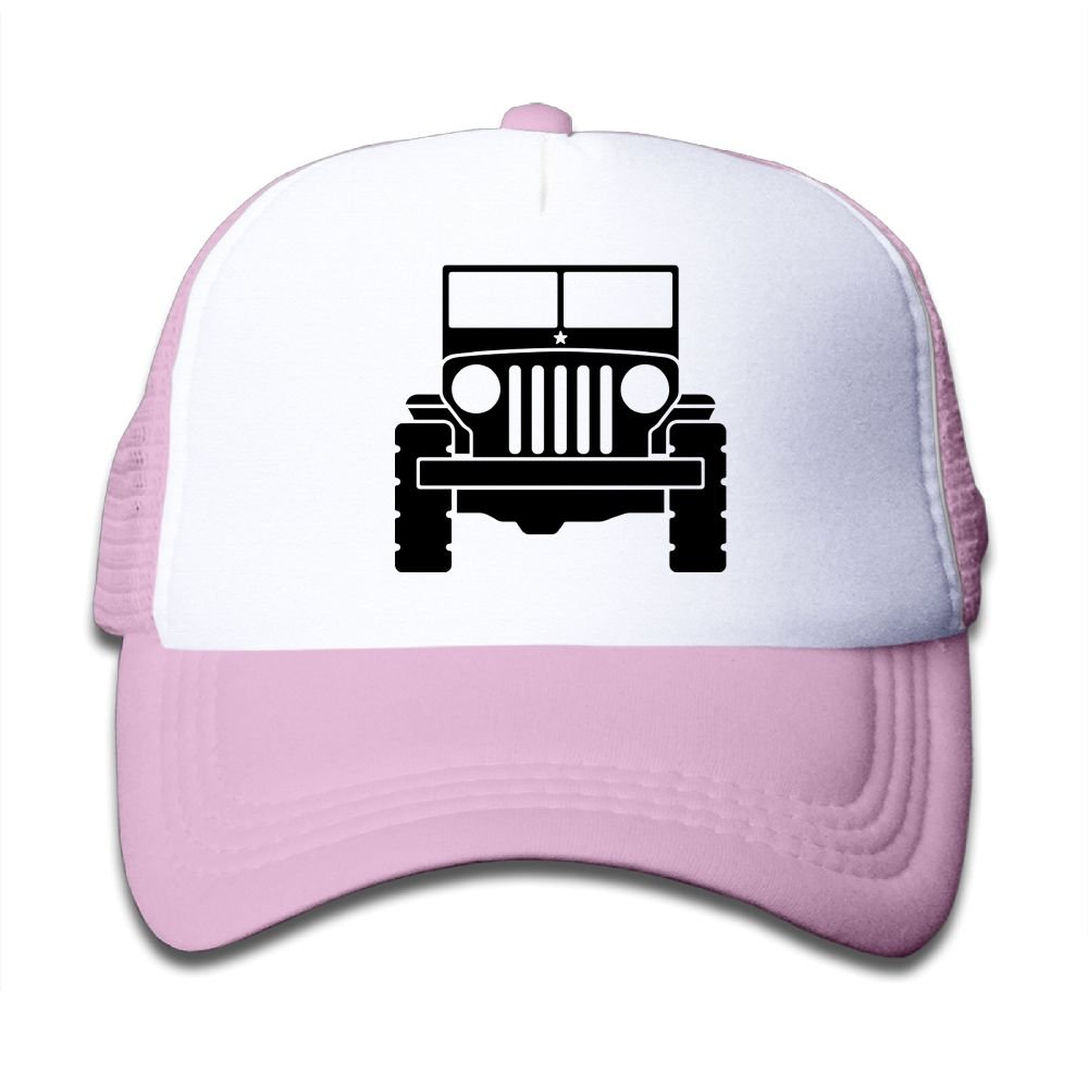 Qiop Nee Pink Mesh Baseball Cap Adjustable Kids Hat Jeep Unisex