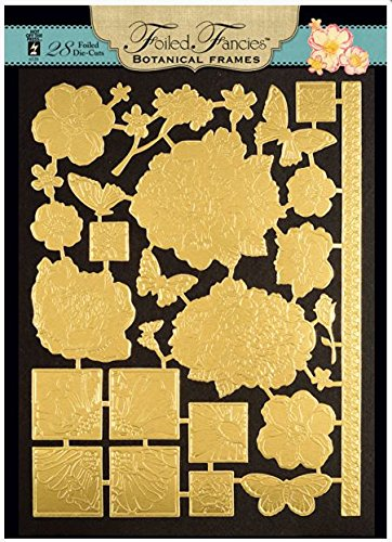 HOTP Foiled Fancies Botanical Frames HOTP6528 28 Foiled and Embossed Die Cut Images