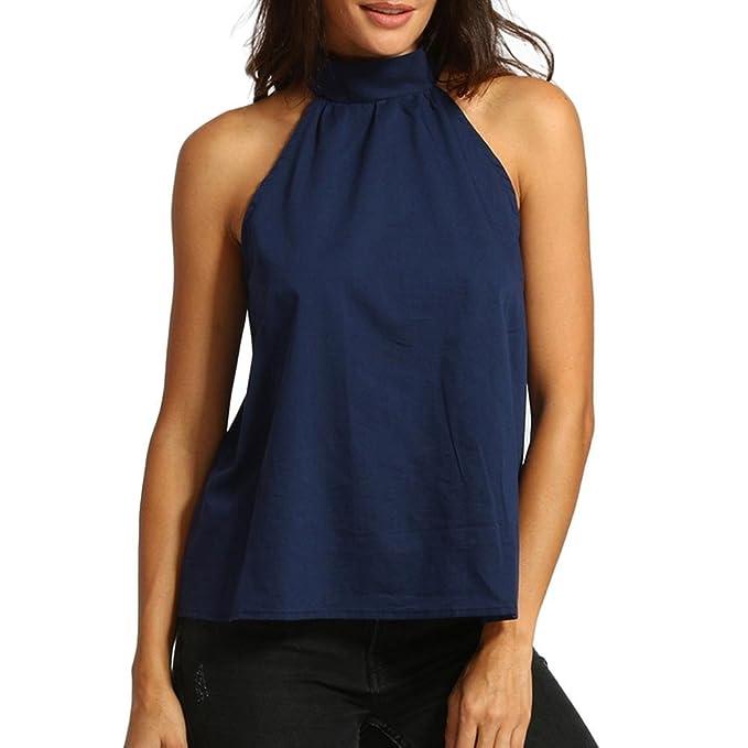 DOGZI Ropa De Mujer Blusa De Mujer Elegante Verano Camisa Casual De Verano Sin Hombros Camisa