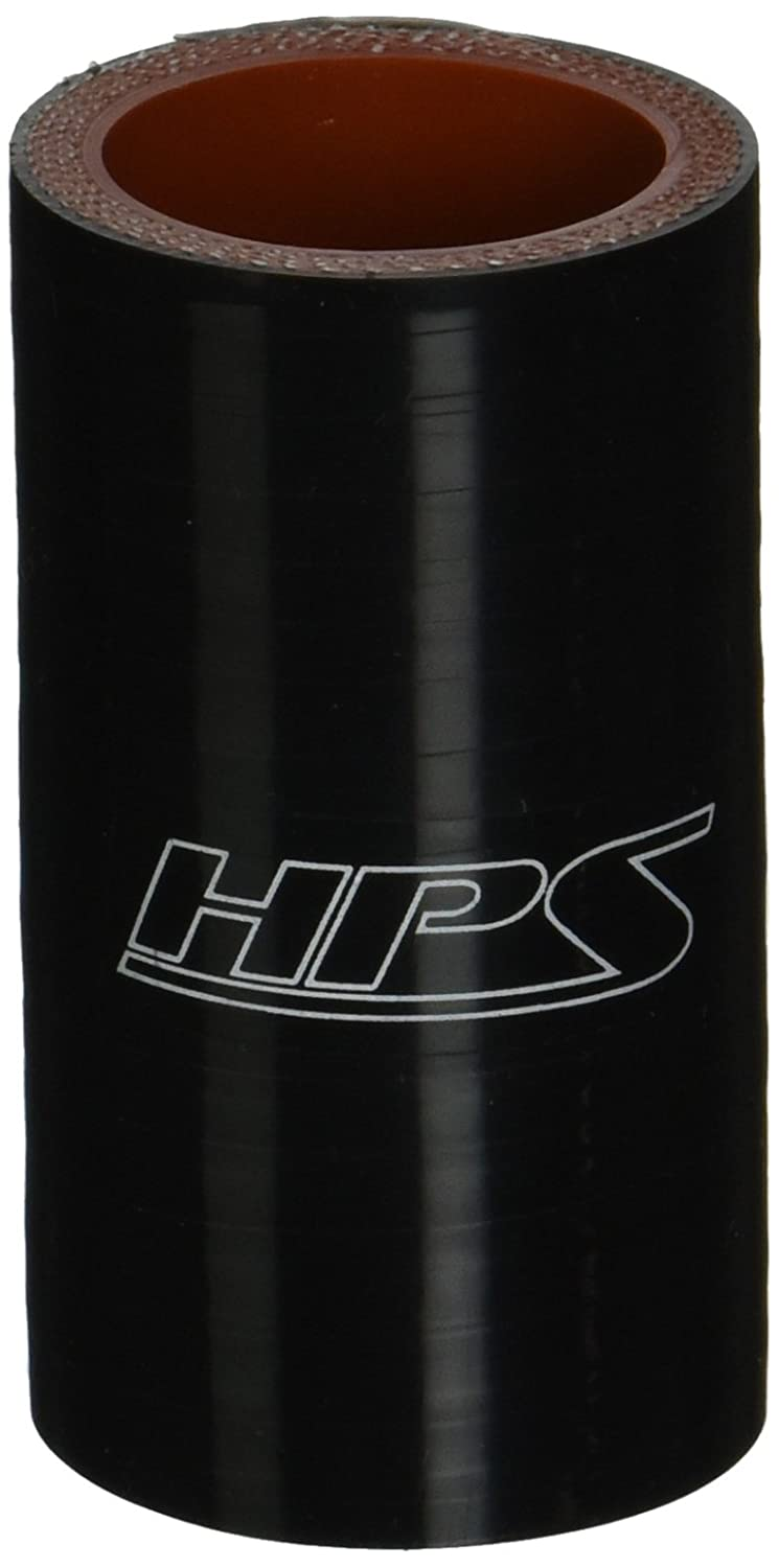 "HPS HTSC-125-BLK Silicone High Temperature 4-Ply Reinforced Straight Coupler Hose, 100 PSI Maximum Pressure, 3"" Length, 1.25"" ID, Black 61IgVBXDK2L"