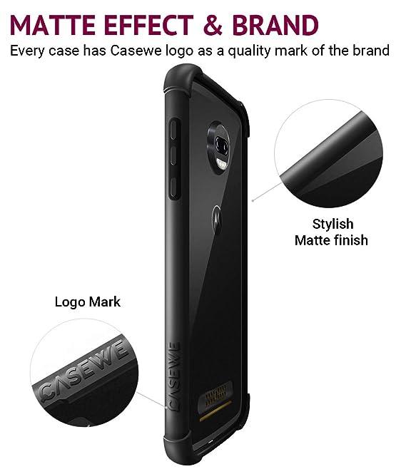 Casewe - Funda para Motorola Moto Z2 Force/Bumper Protector Compatible con Moto Mods: Amazon.es: Electrónica